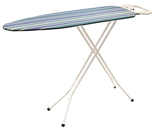 Iron Worx 110 x 33 cm Ironing Board with Cotton Cover, White(Design may vary)
