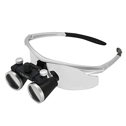 RLH Binokulares medizinisches Vergrößerungsglas Zahnmedizin-chirurgische zahnmedizinische Lupen-Schutzbrillen Protcetive Brillengläser,Silver