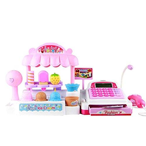 Coupon Matrix - Fangfeen Simulation Supermarket Ice Cream Shop Girl CM© toys Set Plastic Children Cash Register Kids Educational CM© toys