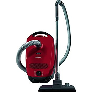Miele Classic C1 Junior Power Line Bagged Cylinder Vacuum Cleaner, 4.5 L, 1400 W - Red