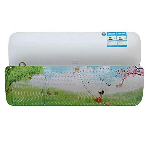 LEBEE Luftleitblech Verstellbares Luftleitblech Perforierte Anti-Geradeaus-Wandhaube,C