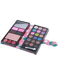 Conjunto 18colors Sombra De Ojos Maquillaje Brillo Paleta De Sombra De Ojos Mate Ajustado - Rosa, /