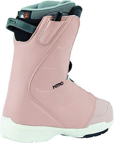 Nitro Snowboards Damen FLORA TLS '20 All Mountain Freestyle Schnellschnürsystem günstig Boot Snowboardboot, 23.0, ROSE