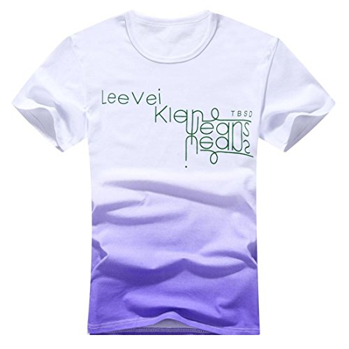 Men's O-Neck Cotton Fashion Tee Shirt purple