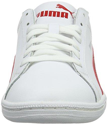 Puma Smash L, Baskets Basses Mixte Adulte Blanc - Weiß (puma White-Barbados Cherry 18)