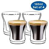 Ecooe - Juego de 4 Vasos tšŠrmicos para Espresso (120 ML)
