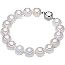 Valero Pearls - Pulsera de perlas embellecida con Perlas de agua dulce - Hilo de seda - 925 Plata esterlina - Pearl Jewellery - En diferentes longitudes, Pulseras, Pulsera de Hilo de seda - 60921025