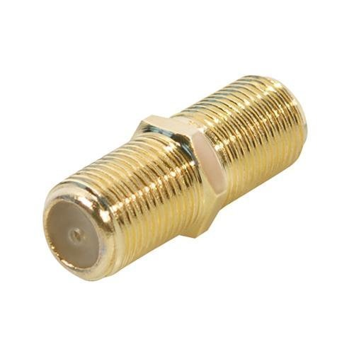 10 Stück SAT F-Verbinder Buchse/Buchse, vergoldete Ausführung