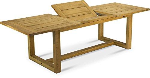 STRETCH Gartentisch ausziehbar Esstisch Holztisch Teak Massivholz natur