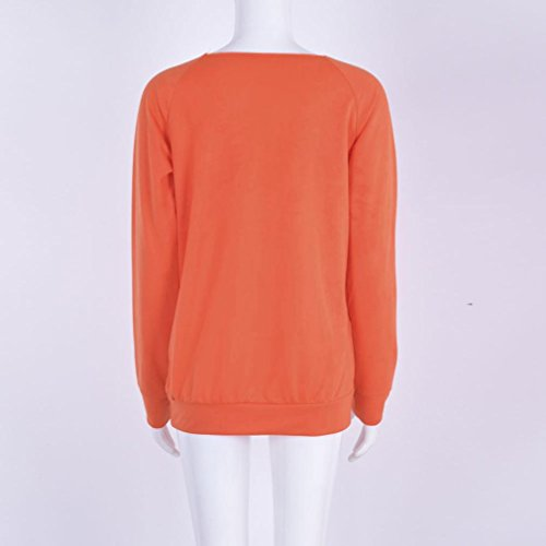 Tonsee Femmes Joyeux halloween Imprimé manches longues chemisier Casual t-shirt F