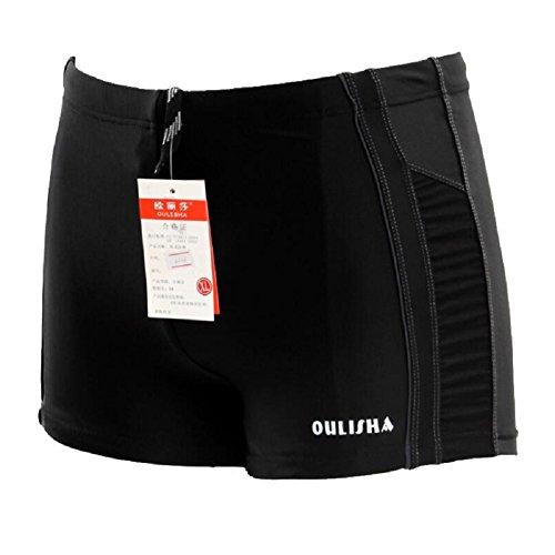 LJ&L Männer Fitness schnell trocknende Shorts, weiche und bequeme atmungsaktive elastische Shorts Badehose, Strand Shorts, Wassersport Notwendigkeiten D