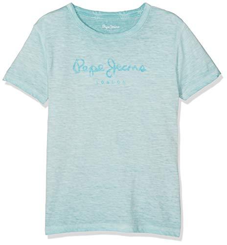Pepe Jeans Jungen Ivan T-Shirt, Blau (Dark Acqua 518), 11-12 Jahre (Herstellergröße: 12) - Jeans-jungen-shirt