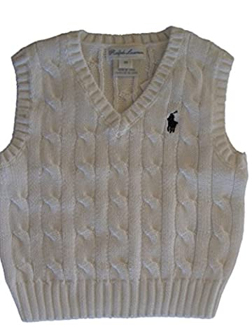 RALPH LAUREN POLO BABY BOYS CABLE KNIT TANK TOP VEST 3 MTHS