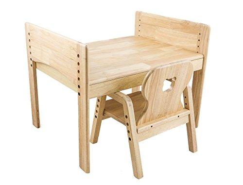 Kindersitzgruppe, Kindertisch + Stuhl, Motiv: Bär, 100% Massivholz -