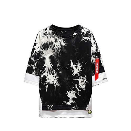 w Neck Camouflage Vintage Shirt Slim Fit Männer Moderner O-Neck Tarnung Sweatshirt Schwarz und Weiß 2019 Sommer Vatertagsgeschenk Bester Papa ()