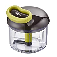 Tefal K1320404 Easypull Non-Electric Food Processor and Chopper with 2 Blades, 900 ml