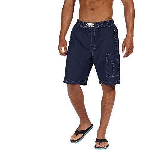 Regatta Herren Hotham III Mesh Lined Quick Drying Multi Pocket Board Short, Navy, L -