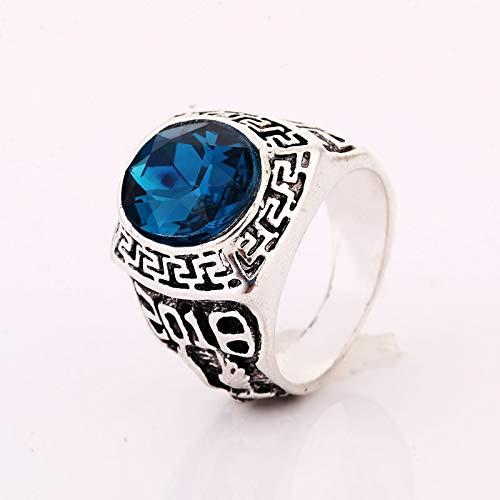 GMZWW Ring Echte Männer Ringe Kristall Gold Farbe Ring der Hochzeit Mode Diese Ringe glänzt mit Schönheit und fügt EIN luxuriöses Bild (Hochzeit Ringe Für Männer Echtes Gold)