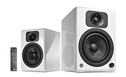 wavemaster TWO NEO white - Regallautsprecher-System (60 Watt) mit Bluetooth-Streaming, digitalen Anschlüssen und IR-Fernbedienung Aktiv-Boxen Nutzung für TV/Tablet/Smartphone, weiß (66361)