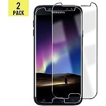 Samsung Galaxy J5 2017 Protector de Pantalla,Vicksongs Cristal Templado[2-Unidades],Vidrio Templado Alta Transparencia Fácil de Instalar Film Screen Protector para Samsung Galaxy J5 2017