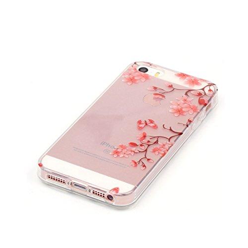 iPhone 5S Custodia,iPhone 5 Case,Patate ananas ustodia in TPU Gel Ultra sottile [Trasparente] Custodia protettiva in gomma flessibile case cover para for iPhone 5 / 5S / SE colour -3