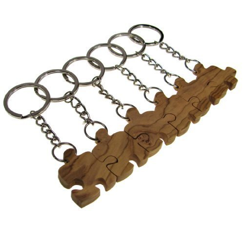 from-the-earth-olive-wood-6-friends-puzzle-piece-keychains-fair-trade-handmade-by-from-the-earth
