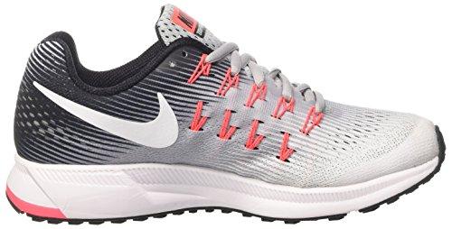 Nike Wmns Air Zoom Pegasus 33, Scarpe da Corsa Donna Multicolore (Wolf Grey / White / Black / Hot Punch)