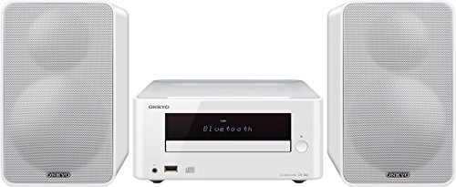 Onkyo CS-265(W) CD HiFi Minisystem (CD Player, MP3, Radio, 2 x 20 W Ausgangsleistung, Zweiwege Lautsprecher, Bluetooth, NFC, Musik streamen, USB/Audio in, iPhone kompatibel), Weiss (Aiwa-stereo-fernbedienung)