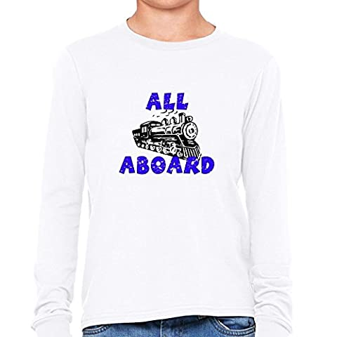 All Aboard! - Train - Special Choo Choo Graphic Girl's Long Sleeve T-Shirt