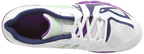 ASICS Gel-Blade 5 Scarpe Squash da Donna Bianco (White/Pistachio/Grape 0187)