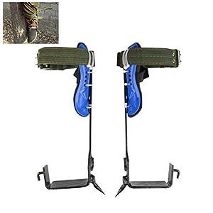 Auplew Tree Climbing Spikes 1 Paar Baumkletterwerkzeug Kletterhaken Dig Bird Nest-Werkzeug Bäume Artefakt Baum…