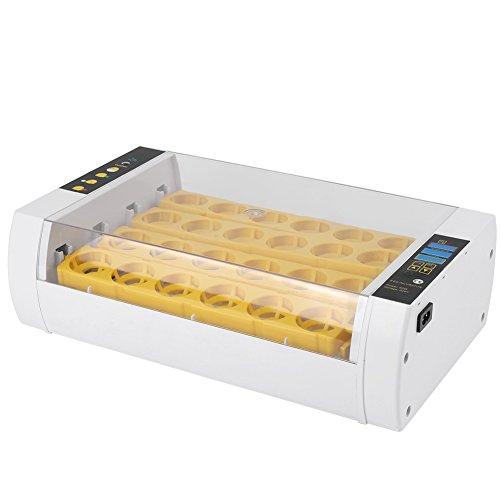 Filfeel Inkubator, 24 Eier Vollautomatische Brutmaschine Temperaturregelung Digital Automatische Huhn Küken Ente Hatcher Brutapparat Flächenbrüter Brüter