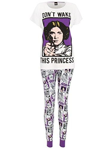 Star Wars Damen Prinzessin Leia Schlafanzug (Frauen Wars Star)