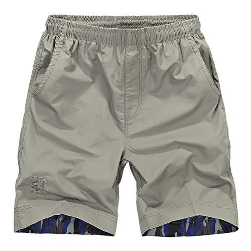 BBQBQ Training Shorts Fitness Kurze Hose Jogging Hose weich und bequem Ideale Männer Kurze Hose für Freizeit,Elastische Hose, schnell trocknende Strandhose 1 4XL -