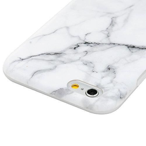 """YOKIRIN Silikonhülle für iPhone 6/6S (4.7"""") Premium Marmor TPU Silikon Case Cover Handyhülle Handytasche Etui Handycase Flexible Transparent Rahmen Rutschfest Kratzfest Schutzhülle Gray Weiß Gray Weiß"""