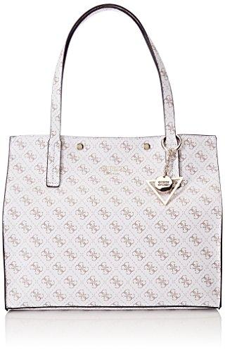 Guess Bags Hobo, Sacs portés épaule femme, Blanc (White), 17.5x31x35 cm (W x H L)