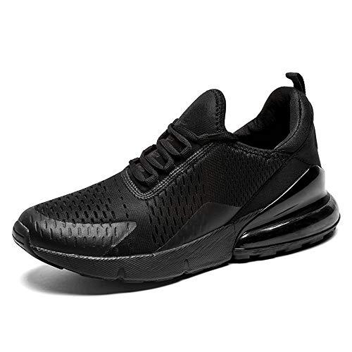 SOLLOMENSI Damen Herren Laufschuhe Straßenlaufschuhe Unisex Sneaker Leichte Schuhe Sportschuhe Turnschuhe Outdoors Fitness 38 EU B Schwarz