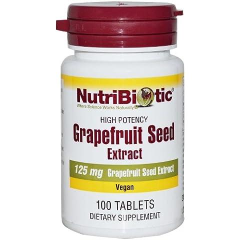 De semilla de pomelo, extracto, 125 mg, 100 tabletas - NutriBiotic