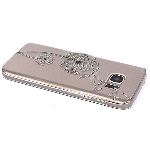 Samsung Galaxy S7 Hülle, JIAXIUFEN Weiß Marmor Serie Flexible TPU Silikon Schutz Handy Hülle Handytasche HandyHülle Etui Schale Case Cover Tasche Schutzhülle für Samsung Galaxy S7 Color18