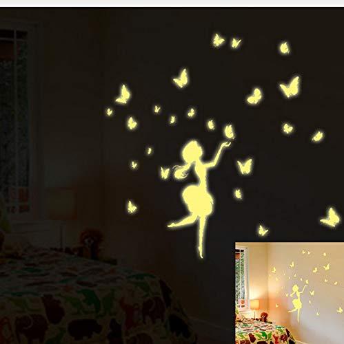 Ein Set Kinder Schlafzimmer Fluoreszierende Glow In The Dark Stars Wandaufkleber