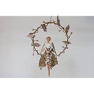 Weihnachten-Gold-Holly-Fairy-Engel-in-einem-Draht-Leaf-Ring-NEUE-fr-Weihnachten-2016