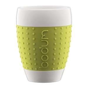 bodum pavina kaffeebecher tasse 400 ml porzellan limettengr n 2er set 11156 565 amazon. Black Bedroom Furniture Sets. Home Design Ideas