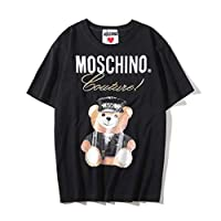Moschino Black Bear Short Sleeve T-shirt Lady Tee White For Women and Girl