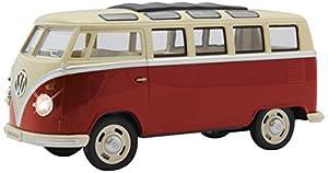 Jamara- VW T1 Bus 1:24 Diecast, Color Rojo (405145)