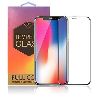 Silicon&Plastic Apple iPhone X/XS Full Screen Panzerglas schwarz sehr dünn 0,3 mm 9H Premium Hülle Total Cover für iPhone X/XS Display Schutzfolie iPhone X/XS