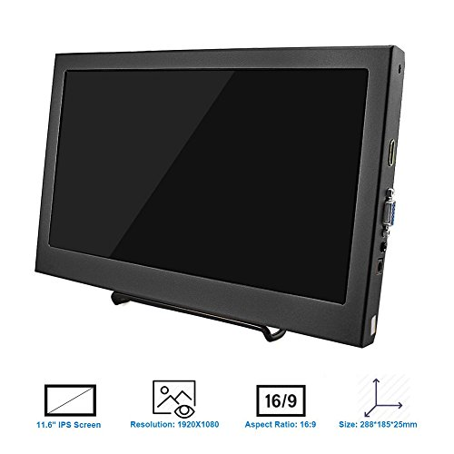 HD PC Monitor display show for Raspberry Pi 2B B Raspberry Pi 3B Windows 7 8 10 116 Inch 1920X1080 HDMI PS3 PS4WiiU Xbox360 1080P from Elecrow Barebones