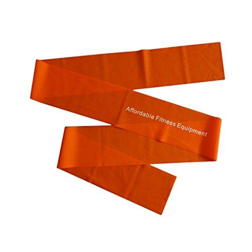 Bande elastiche di resistenza - extra lunghe di 2m. Allenati ovunque - A casa, in palestra o mentre sei in viaggio - Tonifica i muscoli - Perdi peso - Pilates - Yoga - Core Training - P90X - Follia (Arancione)