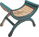 Guru-Shop Halbrunde Sitzbank, Akazienholz, 54x68x41 cm, Sitzmöbel