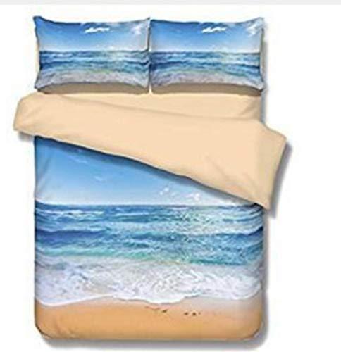 Forever biancheria da letto a onda stampata in 3d tessuto 100% poliestere set copripiumino in twill 1 copripiumino 2 federa 3 pezzi (colore : g, dimensioni : 135cm*210cm)