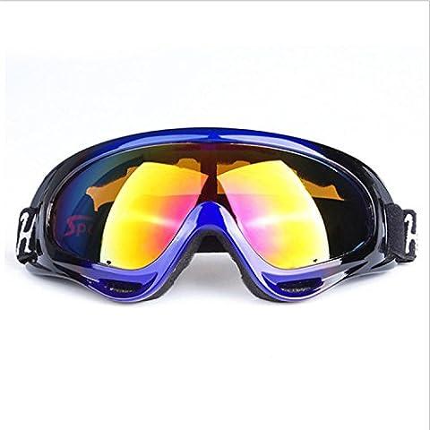 Outdoor Reiten Windschutzscheibe Brille Motorrad Schutzbrille Schutzbrille Outdoor Sport Skifahren Spiegel , blue black